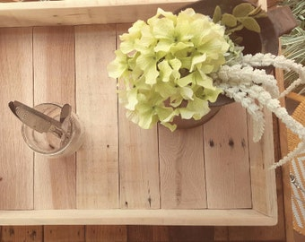 Re-purposed pallet trays.