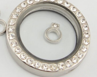 Silver Ring Floating Charm for Floating Lockets