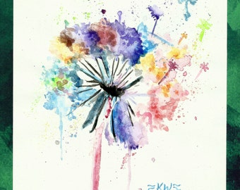 Dandelion *Original Watercolor Painting*