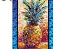 Poppin Pineapple Flag,Pineapple Garden Flag,Cute Fruit Flag,Pineapple Garden Flag,Personalized Any Picture Garden Flag,Outdoor Yard Decor