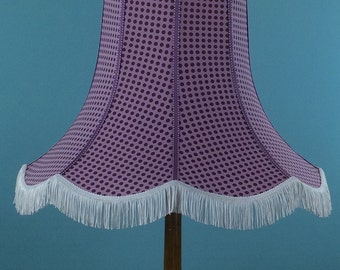 Vintage style lampshade in a purple spot