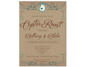 Oyster Roast Engagement Party Invitation