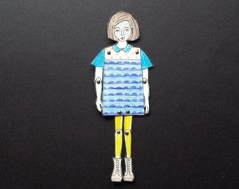 Miniature Paper Doll/s
