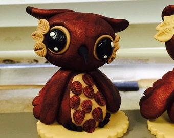 Polymer clay owl figurine