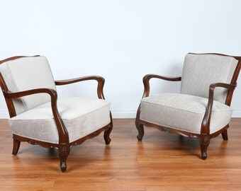 1940's Pair of chairs.