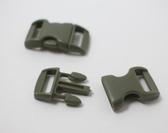 B0008/Khaki/Bracelet Making Clip/15x28mm/5pairs