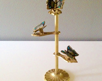 Brass Butterfly Note Holder