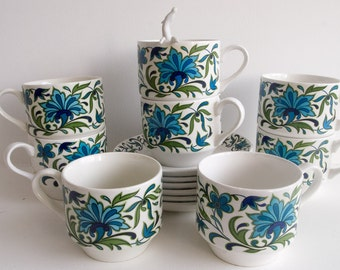 Retro set of Midwinter cups and saucers