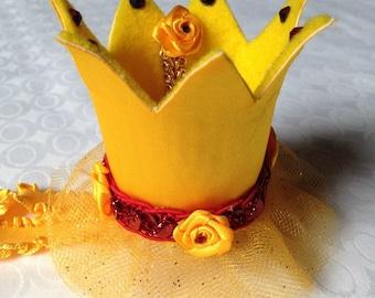 Princess Crown, Belle costume, Disney Princesses, baby photo shoot, baby crown, Disney Belle, baby headbands, baby shower gift ideas