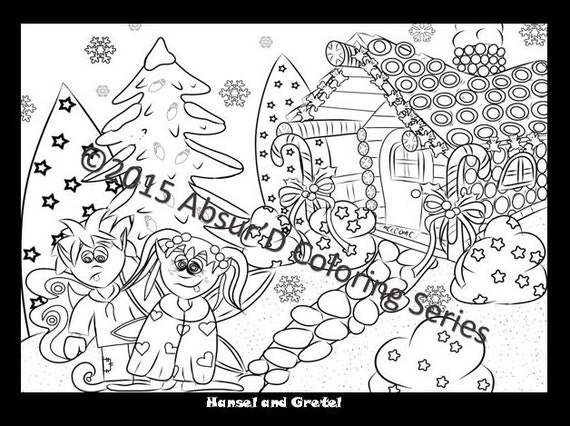 feral fairy tales the absurd just coloring book for adults. Black Bedroom Furniture Sets. Home Design Ideas