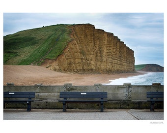 Landscape Photography PRINT, The Cliffs at West Bay - 3, Wall Art