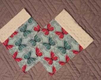 Minky Burp Cloth Set of 2