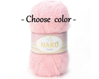 Fluffy yarn PARIS NAKO Knitting yarn Crochet  yarn Very soft yarn Yarn for toys Baby yarn Buy yarn Acrylic yarn Curly yarn Fluffy wool