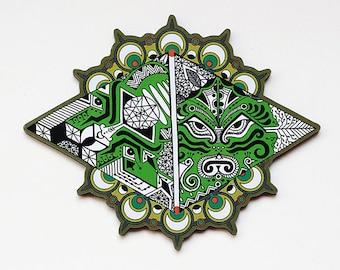 Elements Fridge Magnet-Psychedelic Magnet-Art Fridge Magnet-Elements Of Nature Magnet-Trippy Magnet-Cosmos Magnet-Sacred Geometry-Indian art