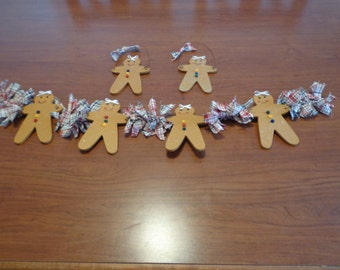 Handcrafted Gingerbread Garland and Ornaments
