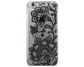 Lace dolly black clear tpu iphone case,clear iphone 6s case,clear iphone 6 case,clear iphone 5 case,iphone 6s case,clear iphone cases,iphone