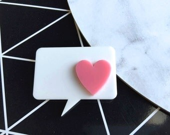 Speech Bubble Novelty Brooch