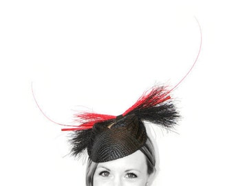 Red and Black Straw Horns
