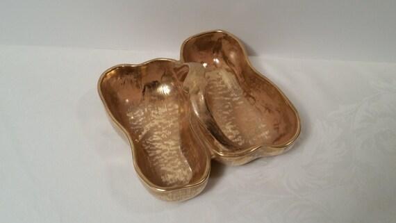 Stangl Granada Gold Double Pear Dish #3782, 1964-1978