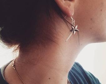 Magic Wand Dangle Earrings