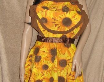 Vintage heart Sunflower apron