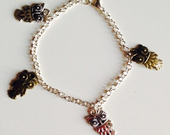 Sale | Owls | Owl | Woodland | Cute | Charm Bracelet
