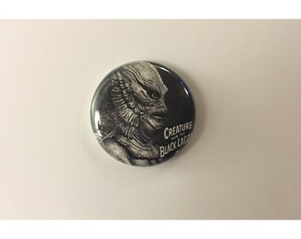 """1"""" Creature From the Black Lagoon pin back button"""