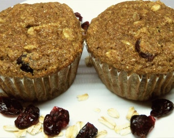 Apple Oatmeal Cranberry Muffins