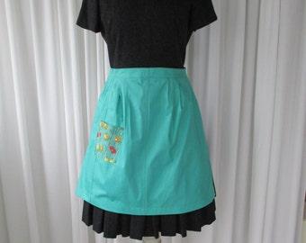 Vintage Half Apron with Pocket 1960's