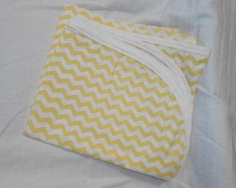 Cotton Receiving Blanket Yellow Chevron