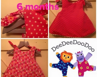 Girls reversible dress. Age 6-12months. Will serve as a tunic afterwards.