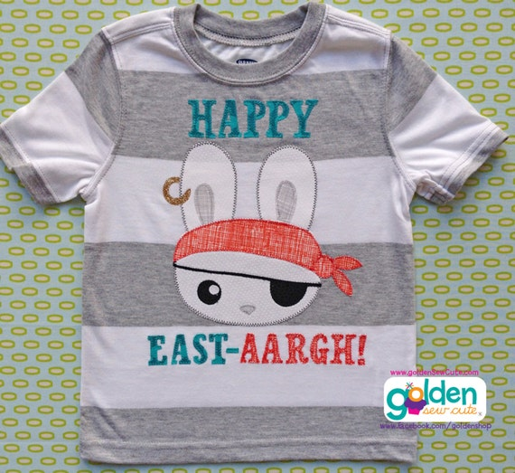 Easter Bunny Pirate, Boy Spring Tee
