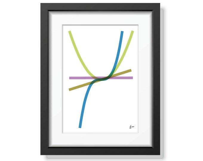 Derivatives 09 [mathematical abstract art print, unframed] A4/A3 sizes