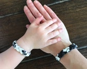 Mommy and Me Jewelry, Essential Oil Diffusing Bracelets, Matching Bracelets, Braided Leather Bracelet, Mother Daughter Bracelets, Monochrome