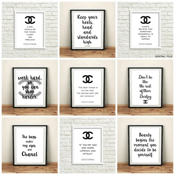 Coco Chanel Poster Chanel Bathroom Set Chanel Room By
