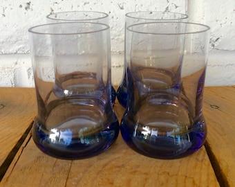 Vintage Black or Dark Purple Juice Glasses