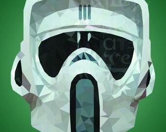 Star Wars Scout Trooper Helmet Low Poly