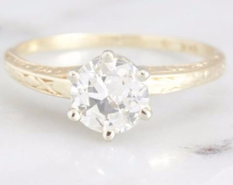 Juliette- 0.81 ct Old European Cut Diamond Engagement Ring