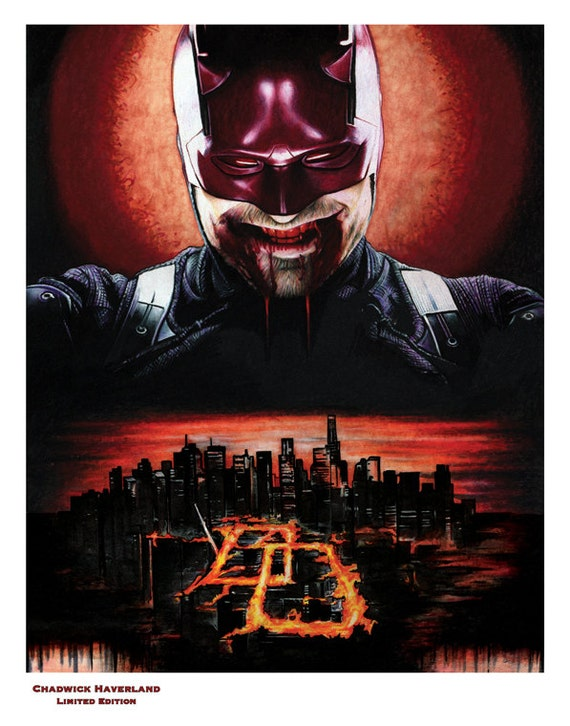 Devil of Hell's Kitchen Daredevil 11x14 Limited