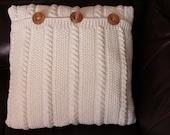 Handmade knitting pillow