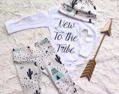 Organic Newborn coming home outfit, baby shower gift, newborn