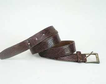 Mens 38 Brown Dress Belt Woven Leather