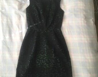1950's coctail dress small mad men vintage lace dress