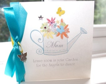Personalised Handmade Angel Quote Greeting Card Garden Watering Can by Charlotte Elisabeth AL002
