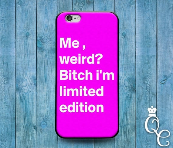 iPhone 4 4s 5 5s 5c SE 6 6s 7 plus iPod Touch 4th 5th 6th Generation Cute Pink Quote Weird White Word Phone Cover Funny Girly Girl Case