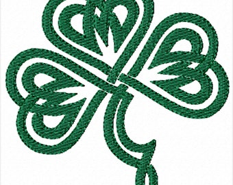 Celtic Shamrock -A Machine Embroidery Design for St. Patrick's Day