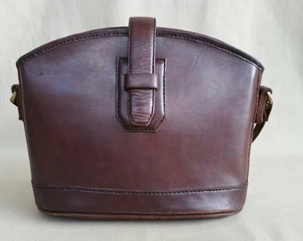 Vintage Brown Bosboom Leather Bag, Shoulderbag, Office Bag, Work Bag, Tote Bag