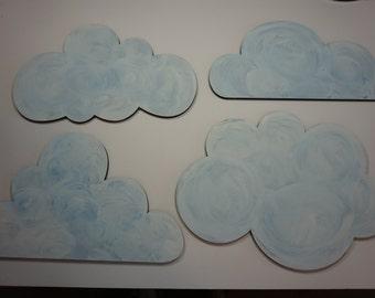 Set of Cloud Silhouette cutouts