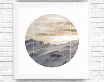 Minimalist Modern Prints, Large Photography Wall Print, Nature Photography Wall Print, White Photography Wall Print, White Print Art, Snow