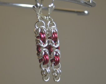 Byzantine Chainmail earrings with Sterling Silver Earhooks